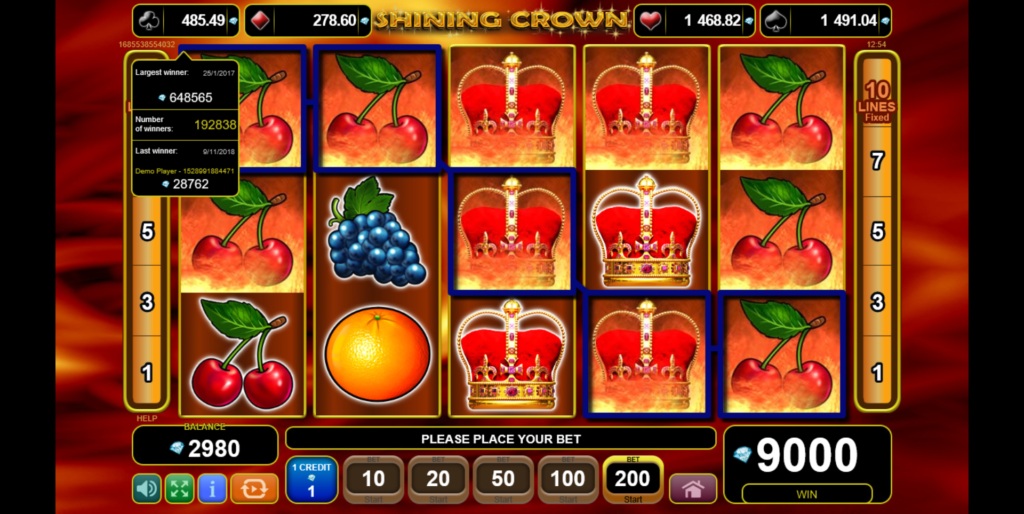 Shining Crowns online